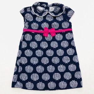 5/$25 Gymboree baby corduroy apple dress 18-24 M